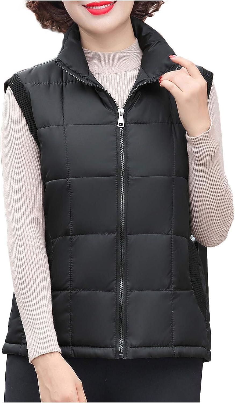 Women's Winter Plus Size Slim Mother's Cotton Vest,Warm Jacket Coat,Vest Paka Winter Trench Coat ATRISE