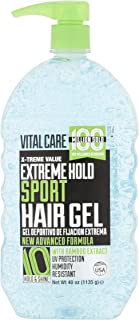 PACK OF 7 - Vital Care Extreme Hold 10 Hold & Shine Sport Gel, 40 oz