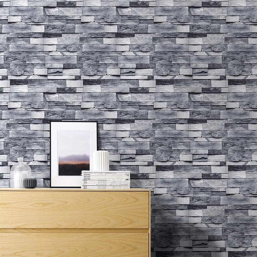 Amazon 壁紙 はがせる レンガ 剥がせる 木目調 3d風 壁紙シール ウォールステッカー 防水 簡単 貼り付け 選べるデザイン 1 壁紙