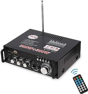 Douself 12V/ 220V Mini 2CH LCD Display HIFI Audio Stereo Power Amplifier BT FM Radio Portable Car Home 600W Remote Control...