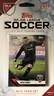 DC United 2019 Topps MLS Soccer Factory Sealed 9 Card Team Set with Steve Birnbaum, Luciano Acosta and Wayne Rooney Plus