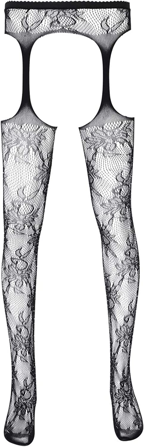 iixpin Mens Hollow Out Fishnet Stockings Legging Stretchy Tights Pantyhose Costumes