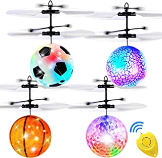 AMENON 4 Pack Flying Ball Toys, RC Toys for Kids Boys Girls Age 6 7 8 9 10 Year Old Light Up Ball Drone Infrared Induction...