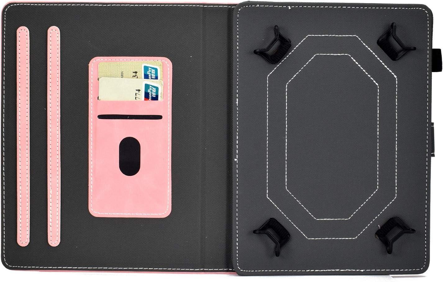 Or Rose Ancase Housse Coque pour Universal 6.5-7.5 Pouces Tablette Samsung Huawei Apple Lenovo Tablet 7.0 Pouces Marbre Paillette Brillante Glitter /à Rabat en Cuir Case Cover Etui