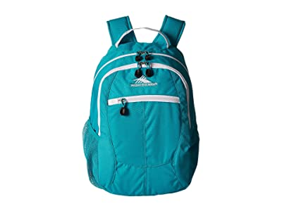 High Sierra Curve Backpack (Bluebird/White) Backpack Bags