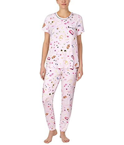 Kate Spade New York Brushed Jersey Long Pants Pajama Set (Jewelry Toss) Women