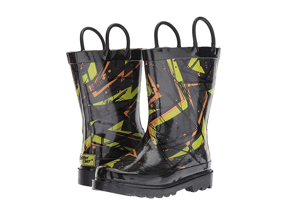 Western Chief Kids X3 Rain Boots (Toddler/Little Kid) (Charcoal) Boys Shoes