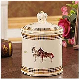 Funeral Cremation Memorial Urns for Ashes & Mortal Remains, Beautiful Urns for Humans and Pets European Style Creastive Ce...