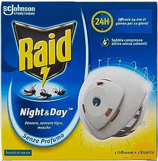 Raid Insecticide/diffuser elektrisch met zand, gecomprimeerd, tegen muggen/tijgers/vliegen, navulverpakking