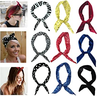 MSCOLOG Cute Headbands for Women, Twist Bow Wire Headbands for Workout Yoga Running Soccer Sports Head Band Hairbands for Women