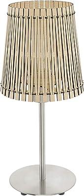 EGLO Sendero lampada da tavolo Nichel, Legno E27
