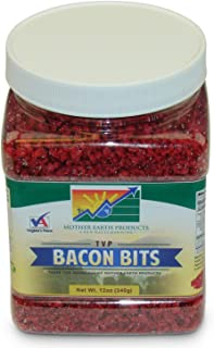 Mother Earth Products Textured Vegetable Protein Bacon Bits, Quart Jar, 12 oz