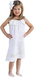 Girls Beach Dress Summer Dresses Lace White Ivory Flower Girl