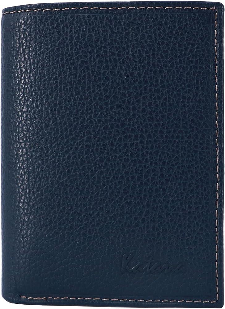 Katana, portafogli, porta carte di credito per uomo, in pelle, blu