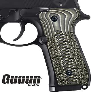 Guuun Beretta 92 Grips G10 Full Size Beretta 92fs 96 Grips Slim ECG Texture
