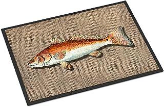 Caroline's Treasures 8736MAT Fish Red Fish Indoor or Outdoor Mat 18x27 Doormat, 18H X 27W, Multicolor