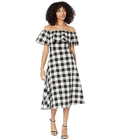 Kate Spade New York Gingham Off-the-Shoulder Dress