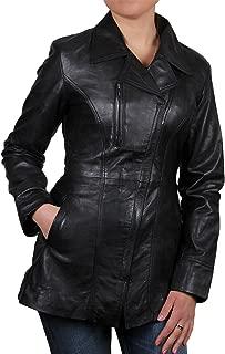 Womens Long Leather Jacket Genuine Sheepskin