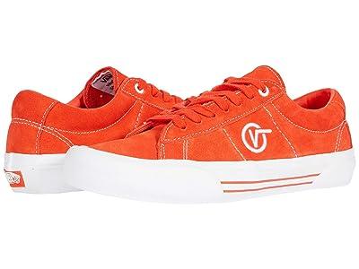 Vans Saddle Sid Pro (Tomato/White) Athletic Shoes