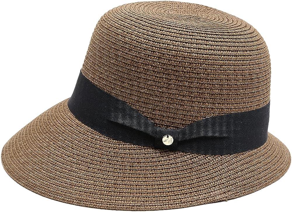 Naforet Women's UPF 50+ Floppy Sun Hat Medium Brim Fedora Adjustable Sizes Designed in Korea
