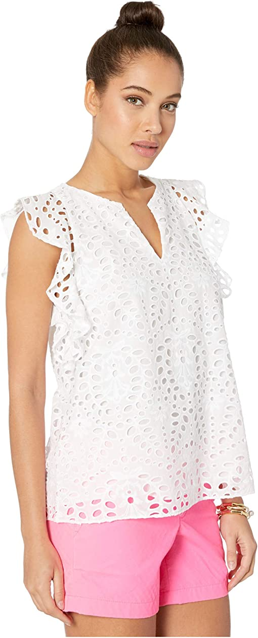 Resort White Large Petal Eyelet