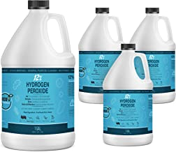 12% Hydrogen Peroxide Solution - 4 Gallons (Just Food-Grade H2O2 & Water!) - Ecofriendly Natural Cleaning Solution for Kit...