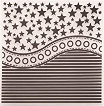 Kwan Crafts Star Horizontal Stripes Plastic Embossing Folders for Card Making Scrapbooking and Other Paper Crafts, 15x15cm