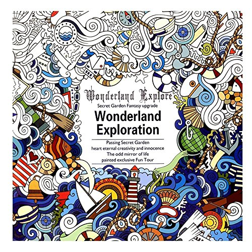 TXIN - Cuaderno de dibujo para niños y adultos medium black-Wonderland exploration