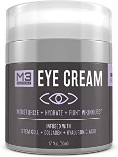 M3 Naturals Eye Cream Infused with Collagen Stem Cell and Hyaluronic Acid for Puffiness..