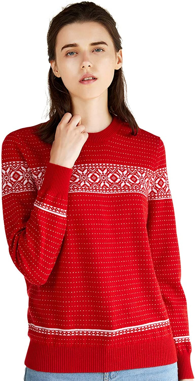Zhili 2018 Winter ONeck Christmas Red Warm Cashmere Sweater