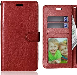LEMORRY Samsung Galaxy J3 Pro Case Leather Flip Wallet Pouch Slim Fit Bumper Protection Magnetic Strap Stand Slot Card Cov...