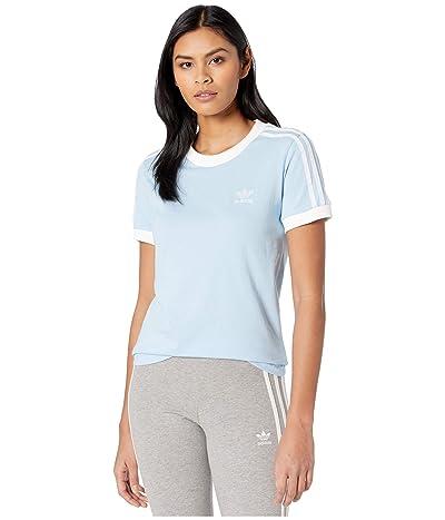 adidas Originals 3-Stripes Tee (Clear Sky/White) Women