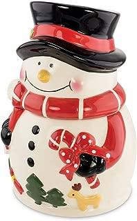 KOVOT Snowman Cookie Jar | Ceramic Snowman Holiday Treats Jar | Measures 9