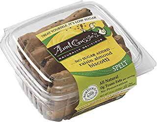Aunt Gussies Spelt Raisin Almond Biscotti 8 Ounces (Case of 8)