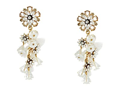 J.Crew Bloom Flower Statement Earrings (Crystal) Earring
