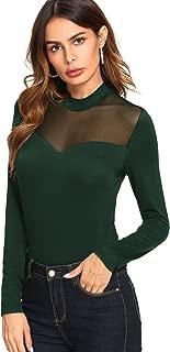 Women's Long Sleeves Slim Fit See-Through Mesh Top