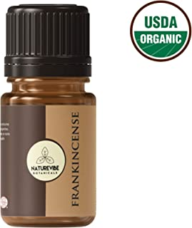 USDA Organic Frankincense Oil, 10ml | 100% Pure Essential Oil | Aromatheraphy | Therapeutic Grade by Naturevibe Botanicals …