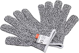 Zorfeter Cut Resistant Gloves for Kids, XS(Ages 8-12)Food Grade Level 5 Protection Safety Kitchen Gloves for Cutting and Wood Carving, 1 Pair