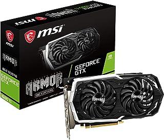 MSI GeForce GTX 1660 Ti Armor 6G OC - Tarjeta gráfica (6 GB, GDDR6, 192 bit, 7680 x 4320 Pixeles, PCI Express x 16 3.0)