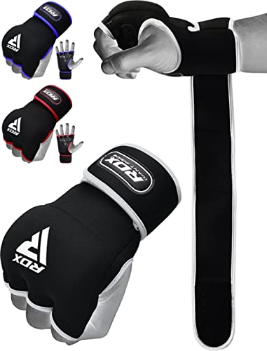 RDX Boxing Hand Wraps Inner Gloves for Punching - Neoprene Padded Fist Protection Bandages Under Mitts with Quick Lon...
