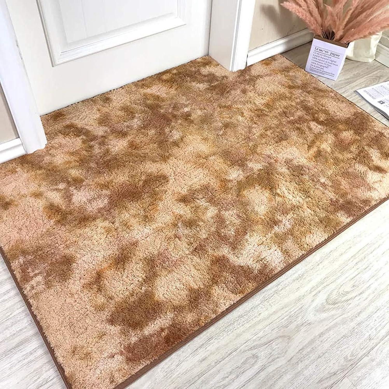 Non-Slip Durable Waterproof Door Mat, Entrance Carpet Living Room Carpet Home Decoration-Light Tan 100x100cm(39x39inch)