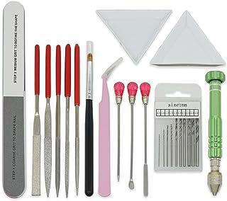 UVレジン 基本道具 14点 キット ピンバイス 調色スティック 調色パレット ピンセット ヤスリ ジェルブラシ ファイル