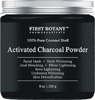 Activated Charcoal Powder 8 oz for DIY Recipes - Teeth Whitening, Facial Masks, Facial Scrubs, Knee Lightening, Underarm Lightening, Homemade Eyeliner &Mascara