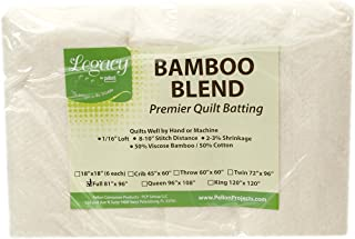 Pellon Bamboo Rayon Batting Full 81in X 96in, Cream/White