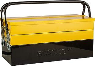 Stanley 1-94-738 Gereedschapskoffer, 21 x 21 x 45 cm, met klembescherming voor gereedschap en accessoires, box met volledi...