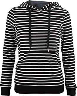 La Mere Nursing Hoodie - Black with White Stripes (XX-Large)