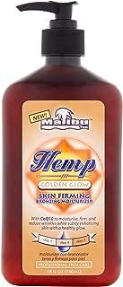 Malibu Tan Hemp Golden Glow Skin Firming Bronzing Moisturizer, 18 fl oz (Pack of 2)