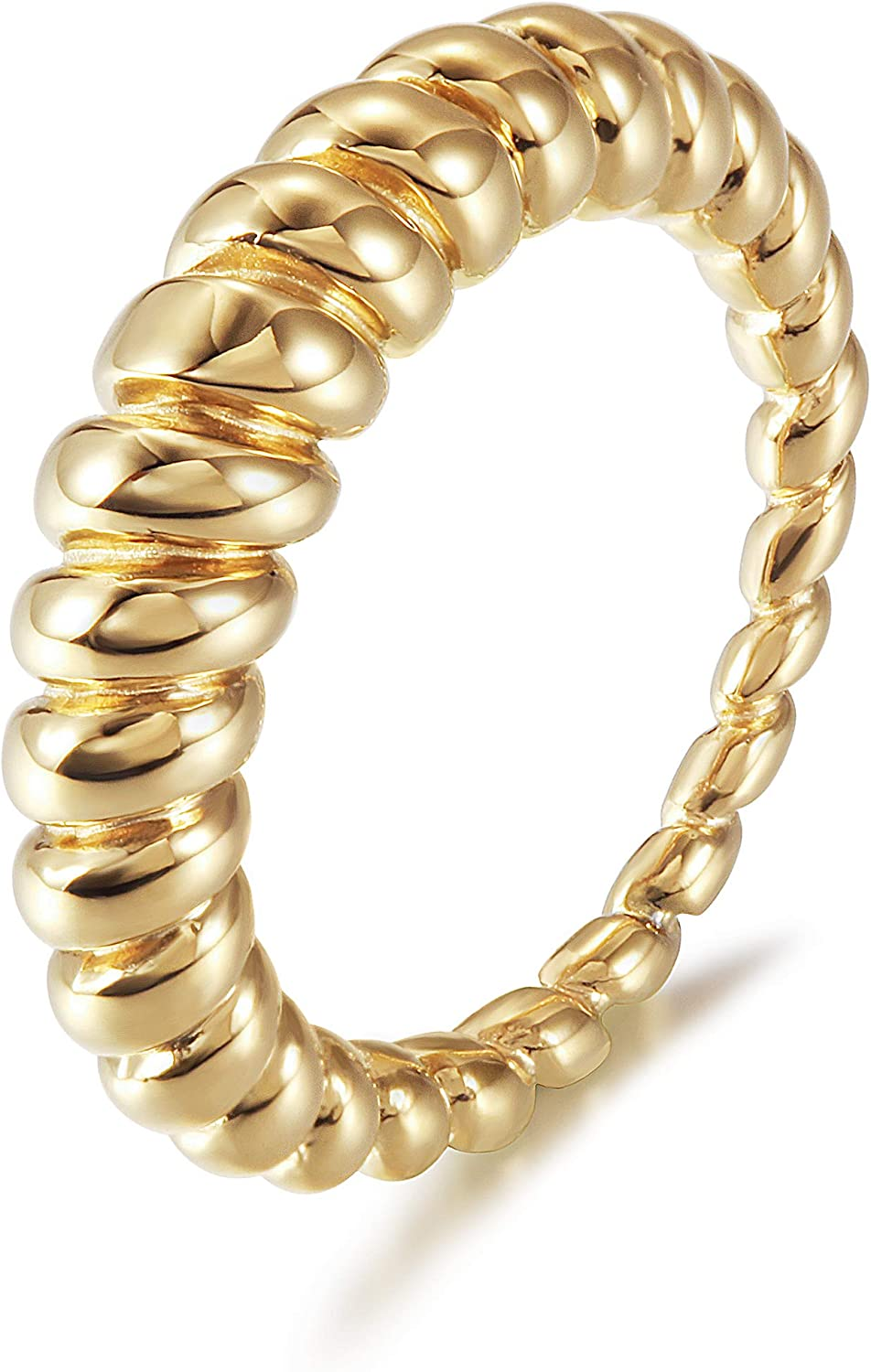 store Sale SALE% OFF WISTIC Gold Croissant Twisted Rings for Girls Women Dome Chunky
