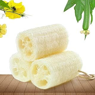 Natural Loofah Sponges Bath Sponge Natural Organic Egyptian Loofah Sponges Exfoliating Shower Loofah Body Scrubbers Natural Bath Shower Sponge Beige 3 Pack