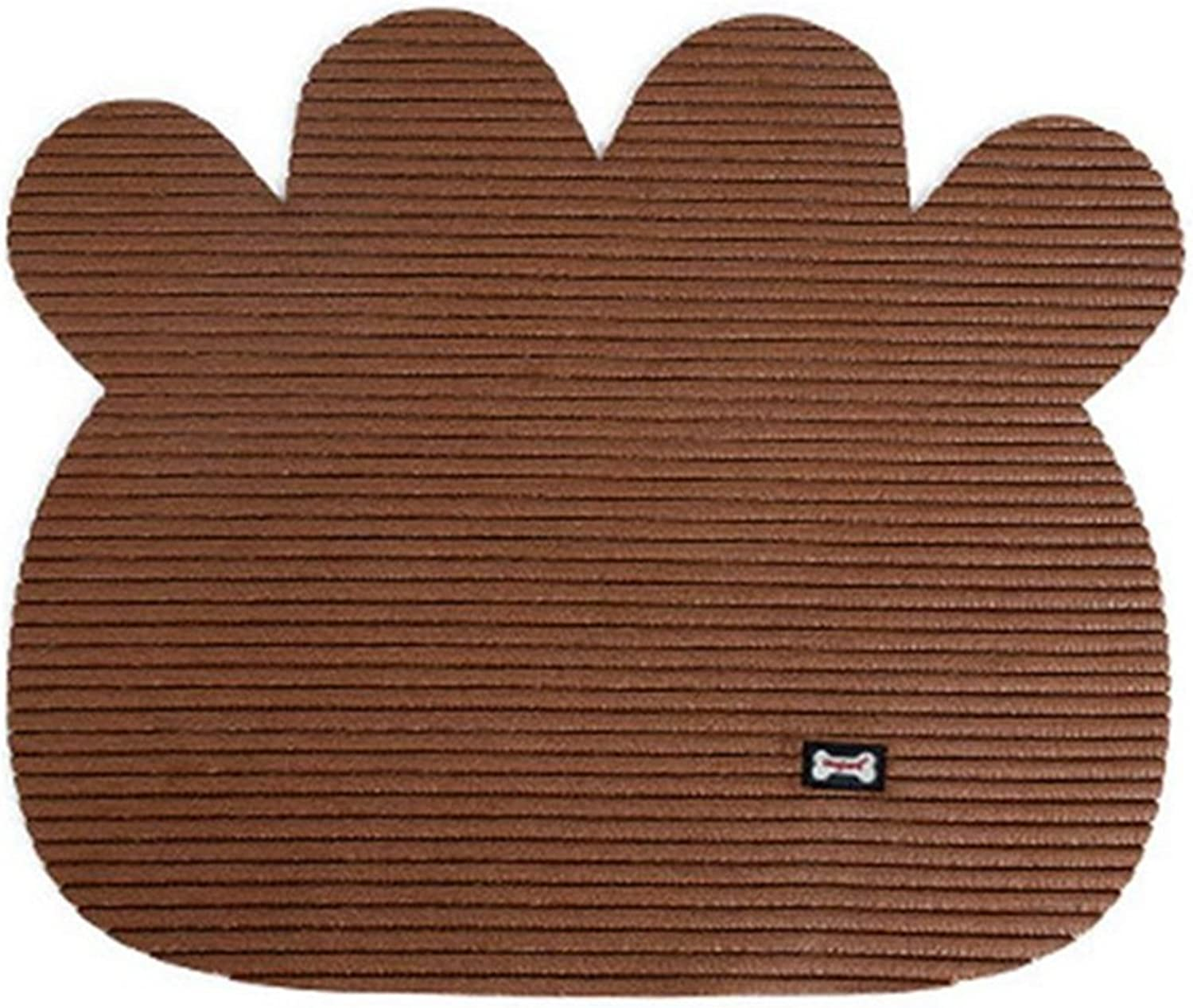 Cat Litter Mat, NonSlip Pet Food Mat, PVC Foam Durable Pet Litter Trapping Rugs for Cats, Dogs and Rabbits